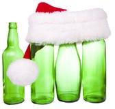 Chapeau de Santa et une bouteille Images stock