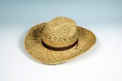 Chapeau de soleil de paille de monsieurs. Photo stock