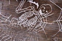 Chapeau de sorcière avec la fin squelettique de modèle  images stock