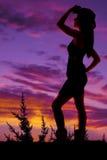 Chapeau de support de cow-girl sur la position principale de bottes Image stock