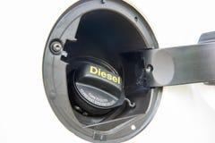 Chapeau diesel de réservoir de carburant de l'euro 5 de voiture images libres de droits