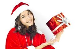 Chapeau du père noël avec Noël gris Images stock