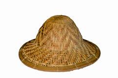 Chapeau en bambou Photo libre de droits