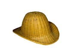 Chapeau en bambou Images libres de droits
