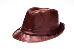 Chapeau en cuir Images stock