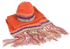 Chapeau et écharpe de l'hiver images libres de droits