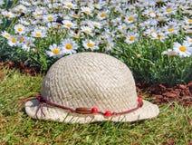 Chapeau et fleurs Images libres de droits