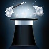 Chapeau et gants de magicien Images stock