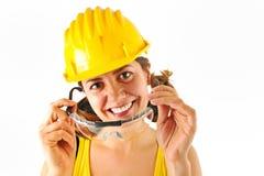 Chapeau et glaces de sécurité Image stock