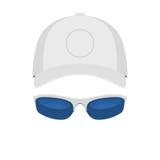 Chapeau et lunettes de soleil de sport Photo libre de droits