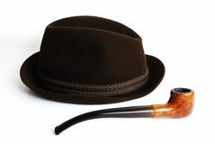 Chapeau et pipe Photos stock