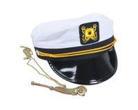 Chapeau et sifflement nautiques photographie stock libre de droits