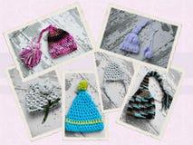 Chapeau fait main de crochet Photos stock