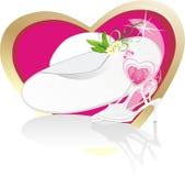 Chapeau femelle et chaussures classiques pour le mariage Image libre de droits