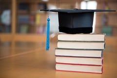 Chapeau gradué noir Image libre de droits