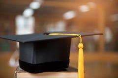 Chapeau gradué noir Photo libre de droits