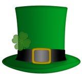 Chapeau irlandais de lutin de jour de rue Patricks Photographie stock