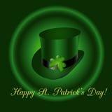 Chapeau irlandais vert Images stock