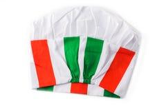 Chapeau italien de chef d'isolement sur le fond blanc Images libres de droits