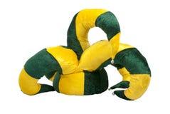 Chapeau jaune et vert de joker illustration de vecteur