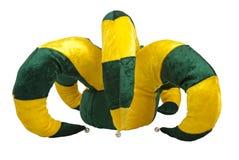 Chapeau jaune et vert de joker images libres de droits