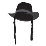 Chapeau juif traditionnel d'isolement illustration libre de droits