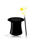 Chapeau magique Photos libres de droits