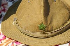Chapeau militaire soviétique de champ, utilisé en Afghanistan image libre de droits