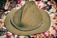 Chapeau militaire soviétique de champ, utilisé en Afghanistan photo libre de droits