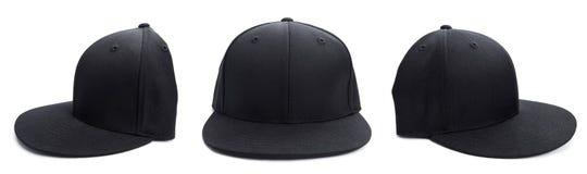 Chapeau noir à différents angles Photographie stock libre de droits
