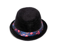 Chapeau noir d'enfant Photographie stock
