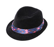 Chapeau noir d'enfant Images stock