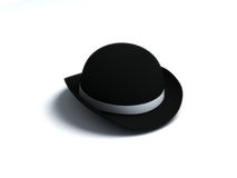 Chapeau noir de Derby illustration stock