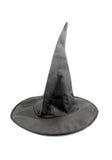 Chapeau noir de sorcière de tissu pour Veille de la toussaint Photographie stock libre de droits