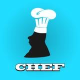 Chapeau plat de chef de silhouette icône d'illustration de vecteur Photographie stock