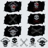 chapeau réglé sur des drapeaux et des icônes Photo stock