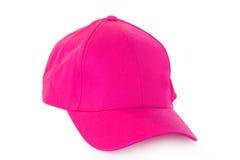 Chapeau rose de capuchon Image stock