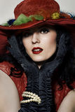 Chapeau rouge Photo stock