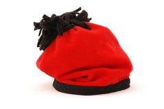 Chapeau rouge de l'hiver Photo libre de droits