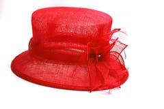 Chapeau rouge de luxe Photo stock