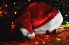 Chapeau rouge de Santa Image libre de droits