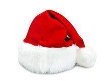 Chapeau rouge de Santa d'isolement Photos libres de droits