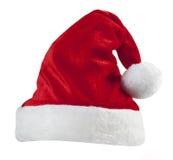 Chapeau rouge de Santa d'isolement Photos stock