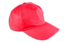 Chapeau rouge de sport d'isolement Image stock