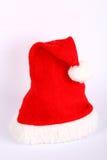 Chapeau rouge et blanc de Noël Photographie stock libre de droits