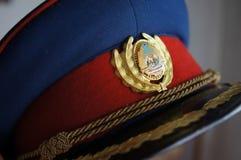 Chapeau roumain de communiste de vintage Photos stock