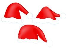 chapeau s rouge Santa Photo libre de droits