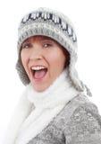 Chapeau s'usant de l'hiver de femme Photographie stock libre de droits