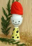 chapeau Santa d'oeufs Photo libre de droits