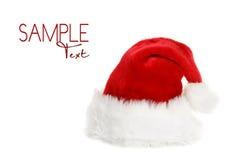 chapeau Santa de copyspace de clause photographie stock